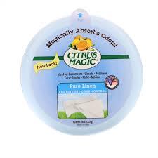 Citrus Magic, <b>Твердый освежитель воздуха</b>, <b>Чистый</b> лен, 8 унций ...