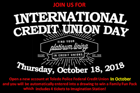 credit union day open an account in october to enter to win 4 tickets to