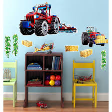 tractor wall stickers source tractor decor for kids room mysocalblog com