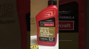ford motorcraft sae 5w20 full synthetic motor oil