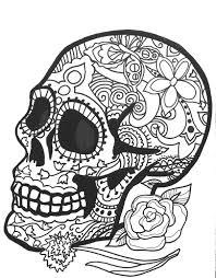 Small Picture 10 MORE Sugar Skull Day of the Dead Original Art Coloring Book