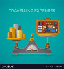 Travel And Expenses Travel Tourism Expenses Concept With Balance