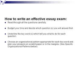 effective essay how to write an effective essay exam