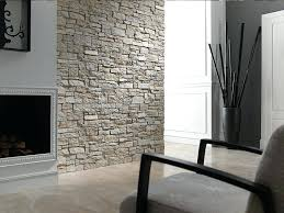 image of faux stone wall panels interior installation