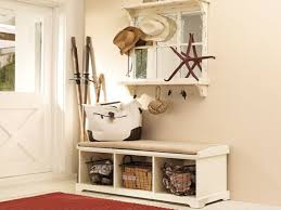 ... Storage Ideas, Awesome Storage Bench Entryway Home Organizer Trend With  Bag And Hats And Mirror ...