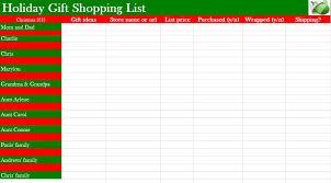 Printable Christmas Gift List Template Printable Christmas Gift List Template Christmas List