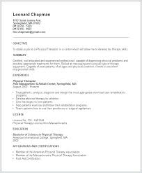 Sample Resume Physical Therapist Physiotherapy Resume Sample Resume