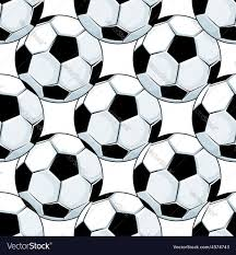 Soccer Ball Pattern Custom Football Or Soccer Balls Seamless Pattern Vector Image