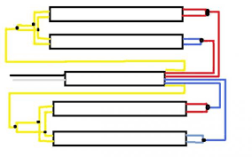 t8 ballast wiring diagram t8 image wiring diagram 2 t12 ballasts to 1 t8 ballast running 4 fluorescent bulbs on t8 ballast wiring diagram
