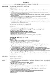 Regulatory Compliance Resume Samples Velvet Jobs
