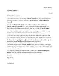 Rental Letter Template Personal Rental Reference Letter Templates At
