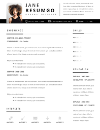 Another Name For Resume Yorgos Yet Another Modern Resume Template Resumgo Com