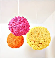 calorific tissue paper flower lanterns