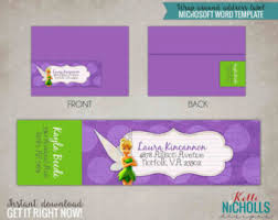 Tinkerbell Template Tinkerbell Girls Birthday Party Custom Favor Tag Etsy