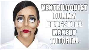 creepy ventriloquist dummy makeup tutorial