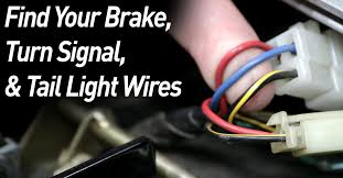 find a motorcycle's brake, tail light, & turn signal wires Camper Tail Light Wiring Diagram at 5 Wire To 3 Tail Light Wiring Diagram