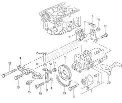 Central hydraulic pump audi 200 quattro a20q usa 1991 year