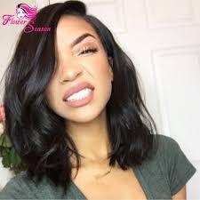Peruvian Wavy Hairstyles Free Parting Short Wavy Human Hair Silk Top Glueless Full Lace