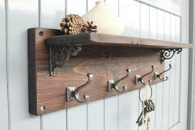 Wall Mounted Coat Rack Wood Marvellous Ideas Wall Hanging Coat Rack Plus Furniture Brown Wooden 22