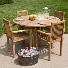 teak round patio table and chairs set tableteak tables san go round patio furniture covers round