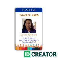 School Id Template Daycare Teacher Id Card School Id Cards School Teacher School Id