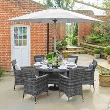 nova rattan garden furniture grey amelia 6 seat 1 3m round outdoor dining set