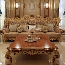 Royal Furniture Design European Classic Style Royal Furniture Gold Color Carved