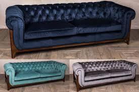 velvet chesterfield sofa settee couch
