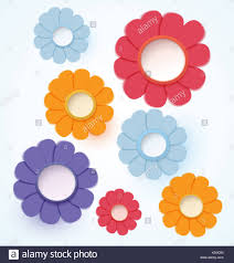 Paper Crafted Flowers Flowers Paper Crafted Stock Photo 278547436 Alamy
