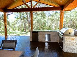 Austin Outdoor Kitchens Rustic Patio In San Antonio Texas Patio Is A Double Gable Covered