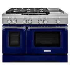 kitchenaid 48 range. kitchenaid 48 in. 6.3 cu. ft. dual fuel range double oven with convection kitchenaid h