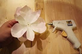 Wax Paper Flower Diy Project Waxed Paper Magnolia Branch Design Sponge