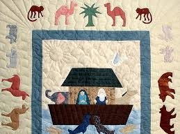 Noahs Ark Quilt -- magnificent made with care Amish Quilts from ... & ... Noahs Ark Applique Crib Quilt Photo 2 ... Adamdwight.com