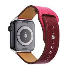 Dây Đeo Bằng Da Màu Sắc Tương Phản Cho Đồng Hồ Thông Minh Apple Watch 1 2 3  4 5 6 chính hãng 201,700đ
