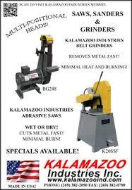 kalamazoo belt grinder. kalamazoo industries saws, sanders, belt grinders. grinder e