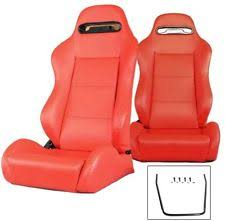 2 red leather racing seats reclinable w slider all bmw new fits bmw z3 bmw z3 set 2 seats