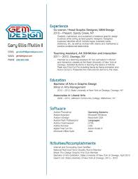 Graphic Design Resume Examples Pdf Samples Old Format Doc