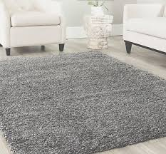 3x5 area rug gy modern solid light gray 2 inch thick heavy soft new