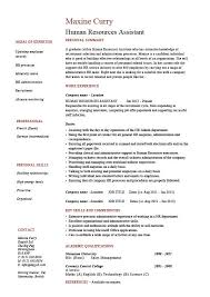 Human Resources Resume Template Fascinating Human Resources Assistant Resume HR Example Sample Employment