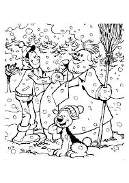 Samson En Gert Sneeuwpop Maken Samson En Gert Kleurplaten