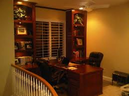 built in home office furniture with partner desk in newport beach