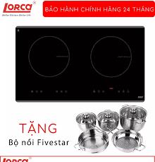 Bếp từ đôi Lorca TA-1006C hàng chính hãng công suất 2000W Booster 2400W  thuộc dòng bếp từ đôi âm 2 vùng nấu công nghệ inverter tiết kiệm điện điều  khiển LED cảm