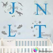 personalised name wall art sticker