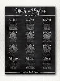 Wedding Seating Chart Wording Simple Rustic Chalkboard Style Wedding Seating Chart