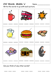 They show kids the concept that words have a beginning, middle and ending sound. Cvc Word Worksheets Teaching Resources