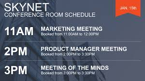 Meeting Room Scheduler Template Carousel Digital Signage Room Schedules