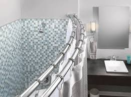the moen adjule double curved shower rod offers exceptional strength and ility its smooth design allows shower rings to slide freely