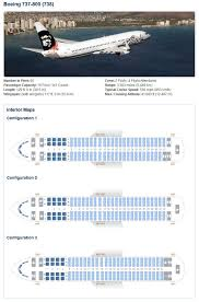 alaska airlines boeing 737 800 aircraft seating chart