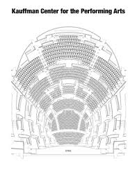 Kauffman Theater Seating Chart Kauffman Center For The Performing Arts Seating Chart By