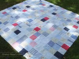 Big girl's blouse | Granny Mauds Girl & Patchwork quilt made from men's shirts Adamdwight.com